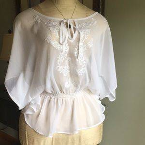 Cache white blouse